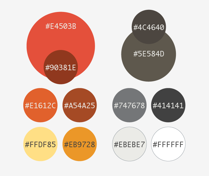 Screenshot of color pallette